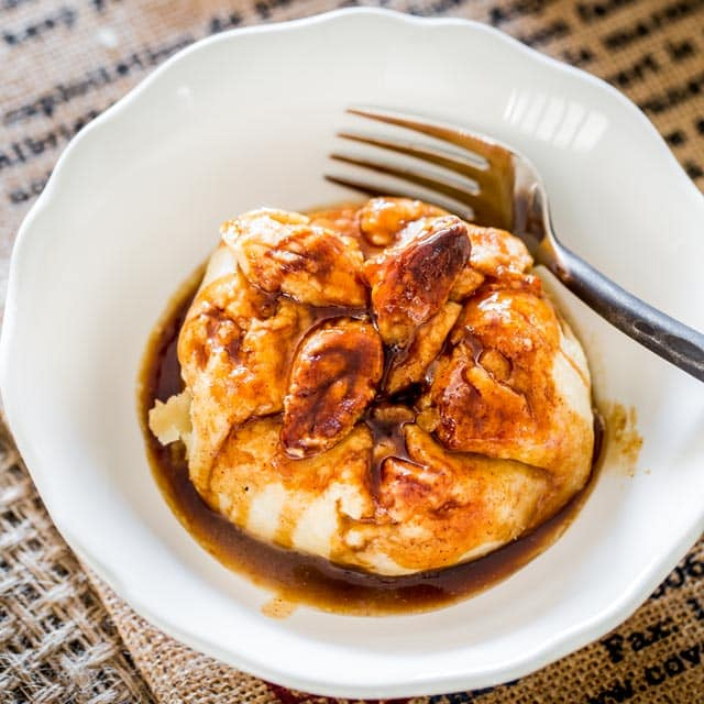 These incredibly delicious apple dumplings are sweet, flaky and drizzled with a tasty syrup. Serve them with a scoop of ice cream for a true comforting experience.