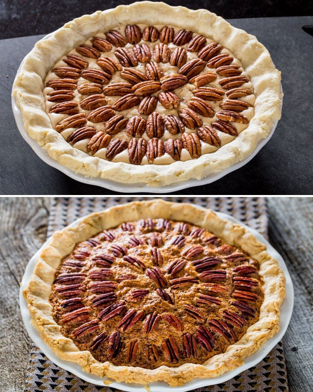 Bourbon Pecan Pie - a homemade classic pecan pie spiked with a little ...
