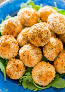 Crispy Baked Parmesan Garlic Breaded Mushrooms