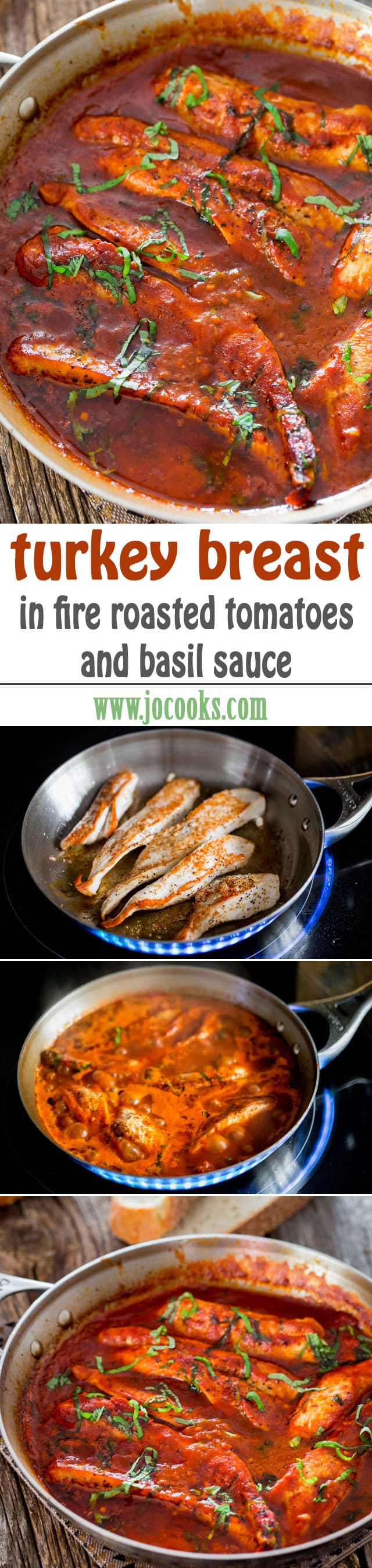 Turkey Breast in Fire Roasted Tomato and Basil Sauce - Jo ...