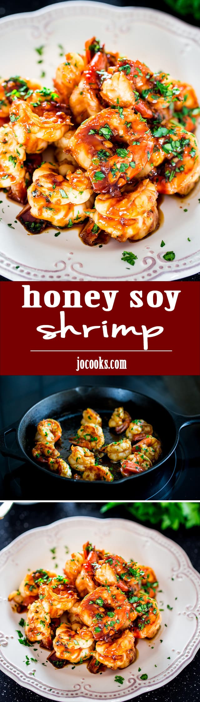 Honey Soy Shrimp  - This incredible sweet and salty shrimp is ready in just under 15 minutes. A delicious appetizer that's sure to impress your guests! www.jocooks.com #shrimp