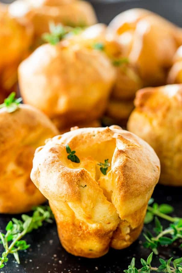 goat cheese and thyme yorkshire pudding