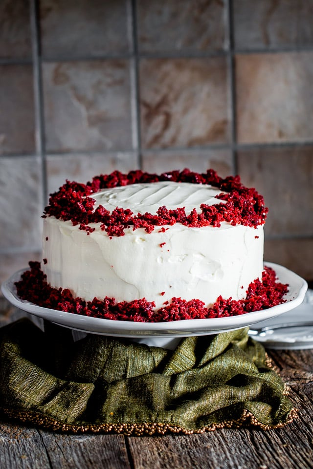 Red Velvet Cake Plated