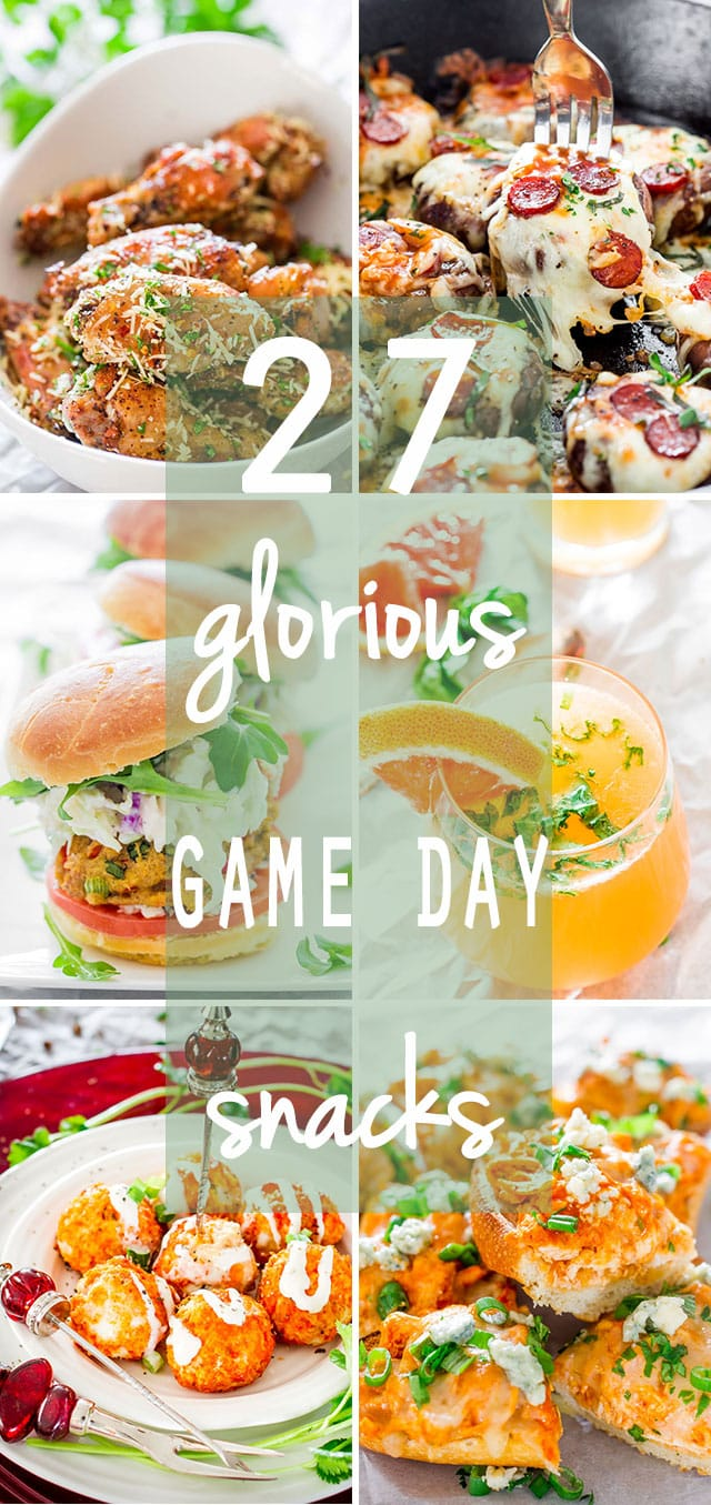 Here are 27 Glorious Game Day Snacks that you need in your life right now for the perfect Game Day, starting with morning snacks and keeping you busy all through the night.