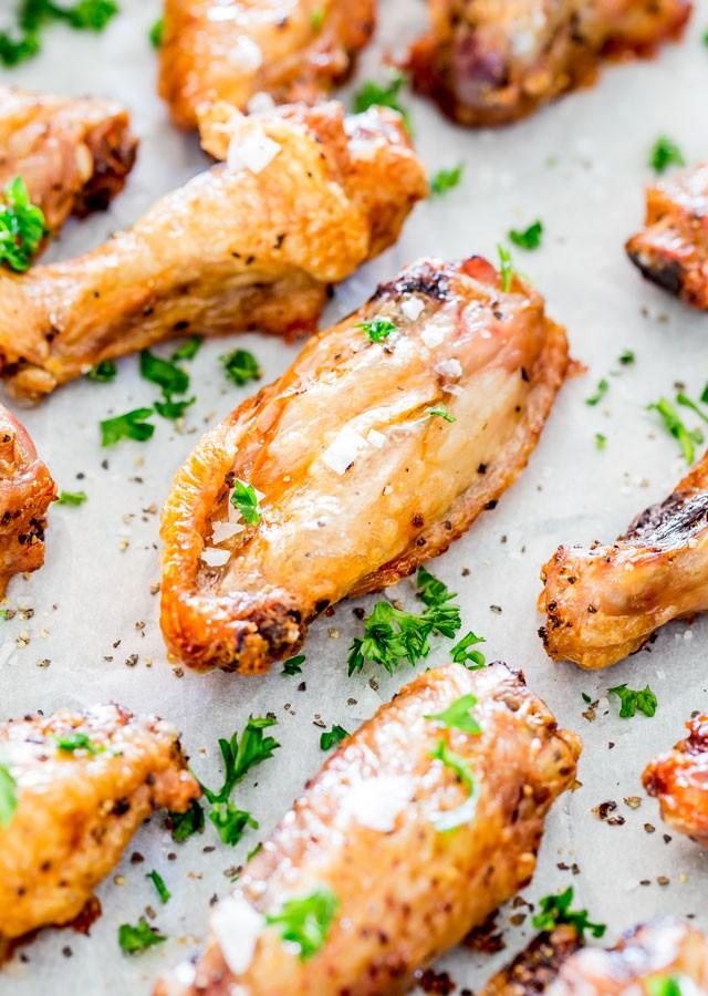 Crispy Baked Salt and Pepper Chicken Wings - Jo Cooks