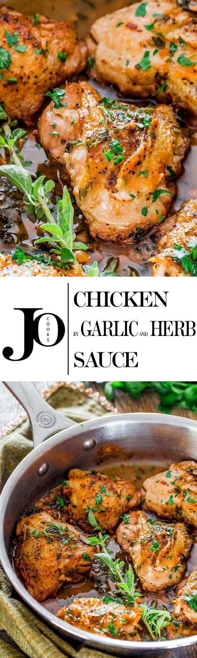 Chicken in Garlic and Herb Sauce - Jo Cooks