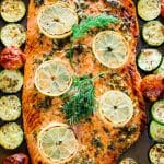 Honey Garlic Salmon and Veggies Sheet Pan Dinner