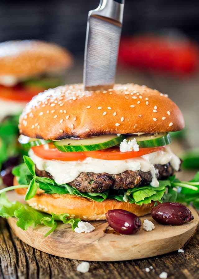Greek Lamb Burger Recipe — Dishmaps