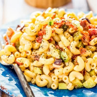 Macaroni Salad with Prosciutto