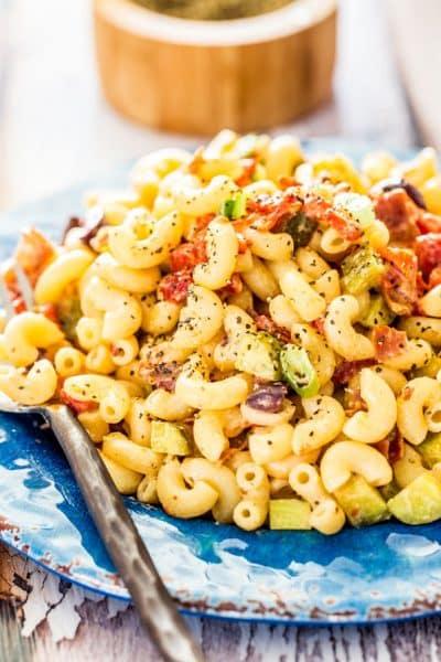 Macaroni Salad with Prosciutto
