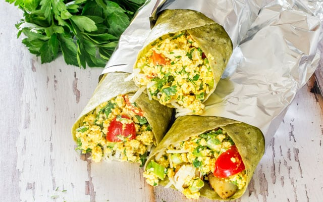normal breakfast routine! With these vegan tofu breakfast burritos ...