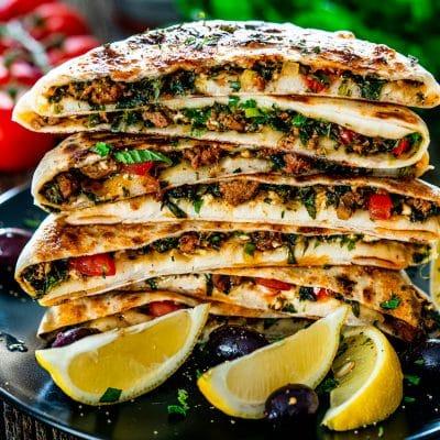 Turkish Gozleme with Lamb