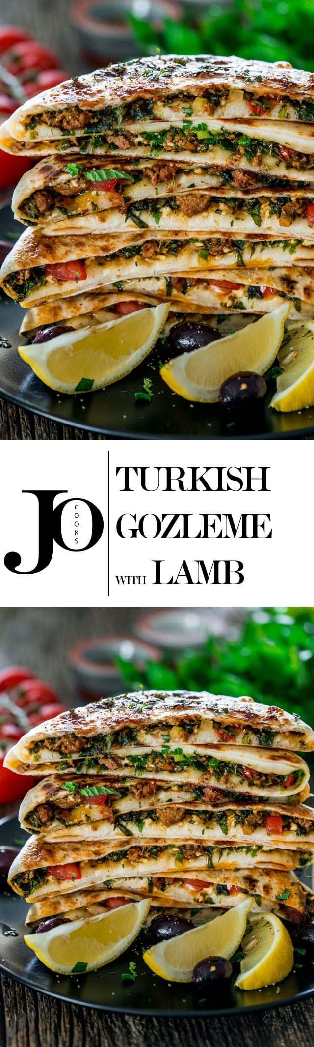Turkish Gozleme with Lamb - savoury homemade flatbreads from scratch filled with ground lamb, spices, herbs and feta cheese. You won't be able to eat just one! www.jocooks.com #gozleme
