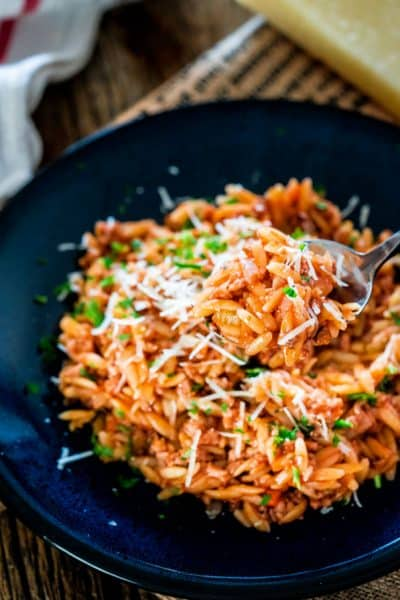 One Pot Spicy Pork Ragu with Orzo