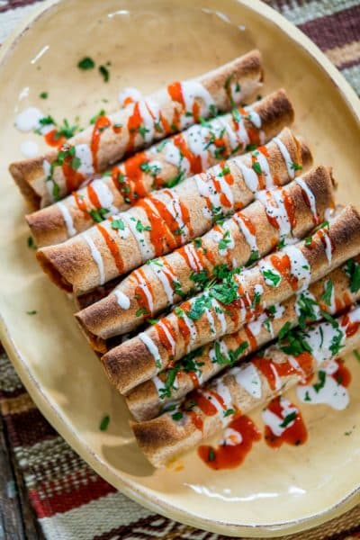 Chicken Enchilada Taquitos
