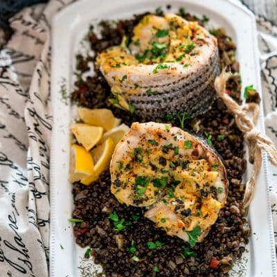 Blue Pointe Stuffed Striped Sea Bass