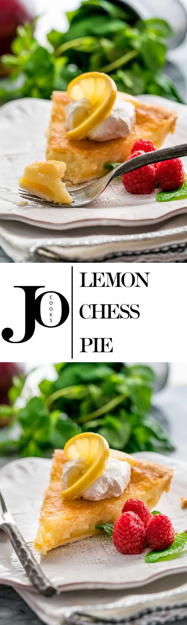This Lemon Chess Pie is really easy to make and quick to put together. All the lemons simply make this pie divine, with its flaky crust and its incredible lemon curd like filling. www.jocooks.com #lemonpie