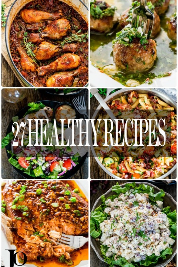 27 healthy recipes collage