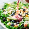 Kale Salad with Blueberry Vinaigrette