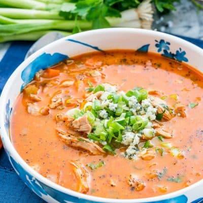 Buffalo Chicken Wing Soup
