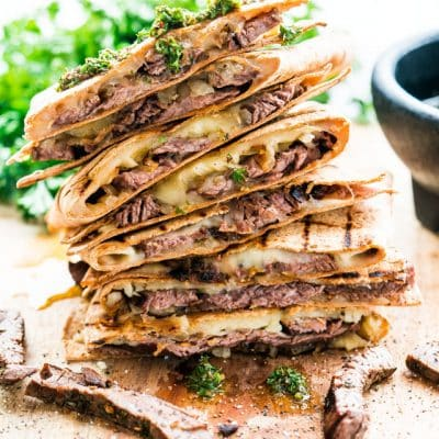Chimichurri Steak Quesadillas