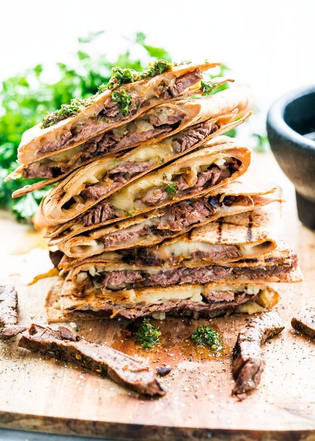Chimichurri Steak Quesadillas Jo Cooks