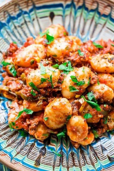 Sausage Leek Ragu Gnocchi