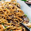 Shrimp Shiitake Noodles