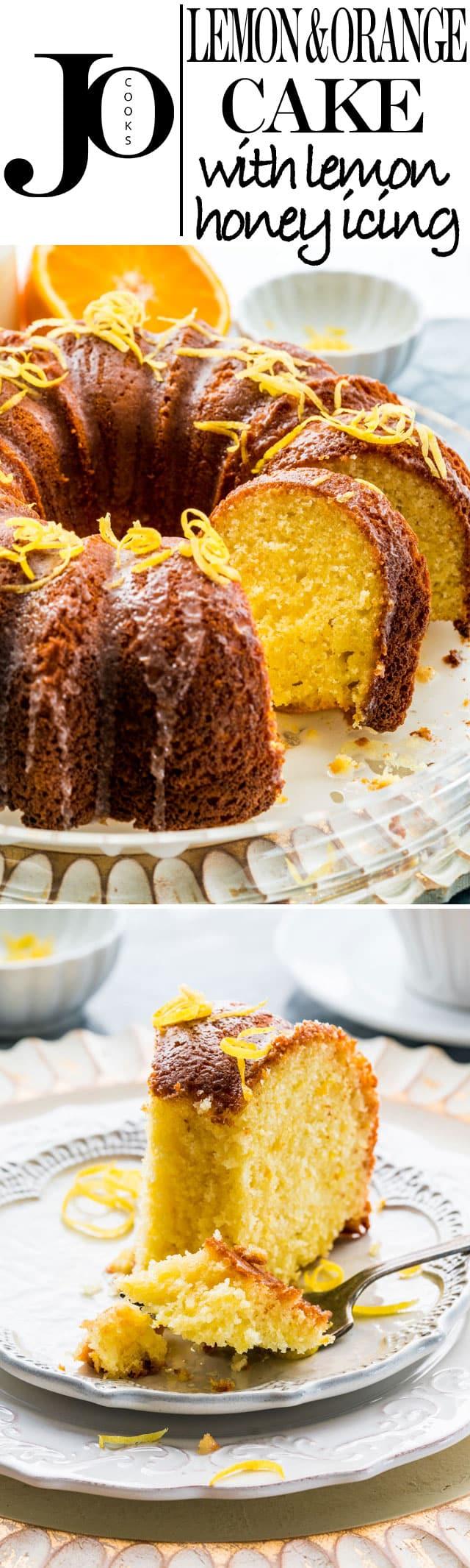 Lemon Orange Cake With Lemon Honey Glaze Jo Cooks