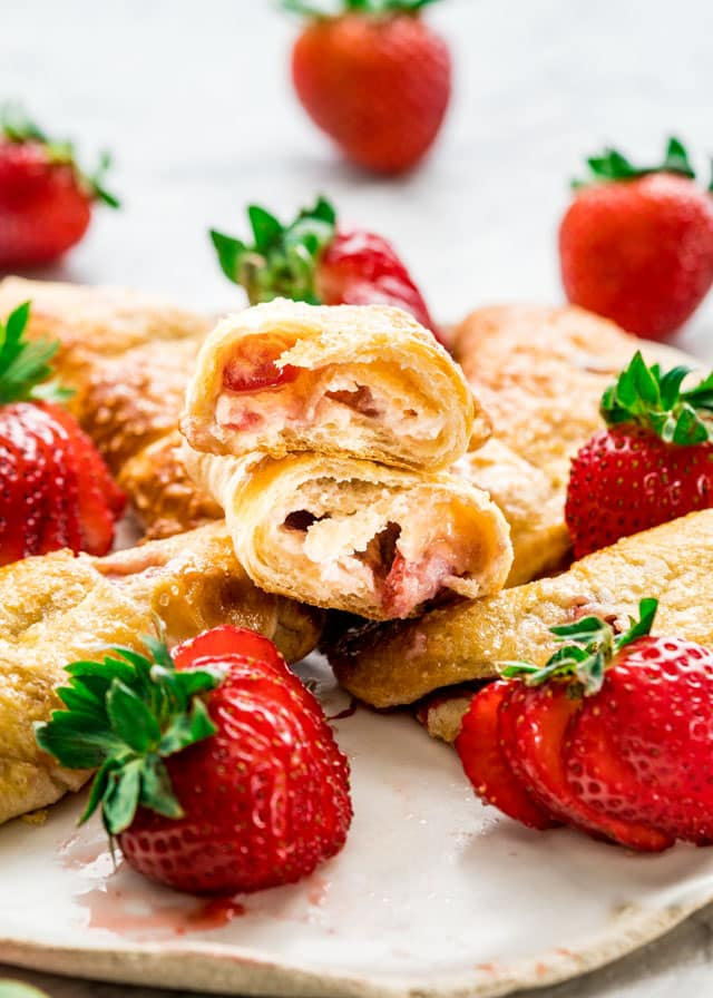 Strawberry Cheesecake Crescent Rolls