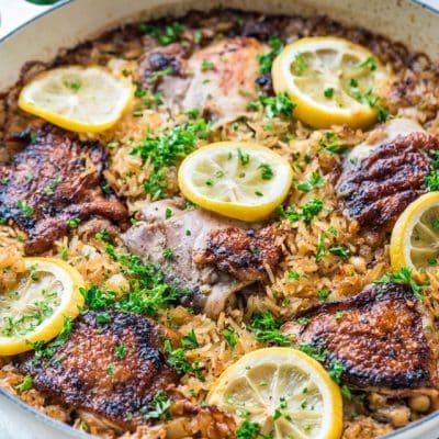 Lemon Chicken Rice Bake