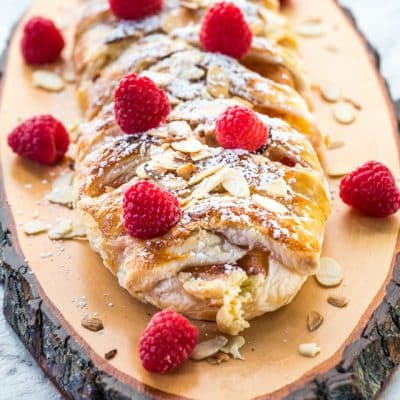 Peaches and Cream Strudel