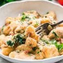 One Pot Chicken Florentine Gnocchi