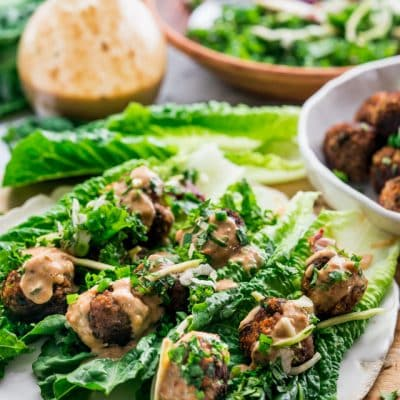 Thai Meatball Lettuce Wraps