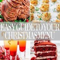 christmas menu guide collage
