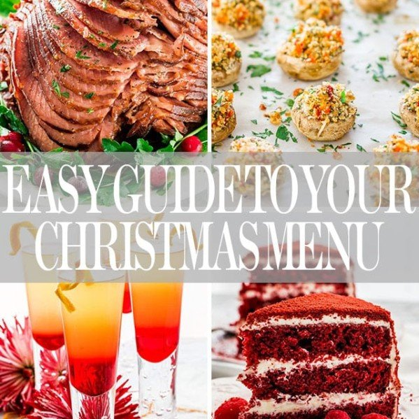 christmas menu guide collage