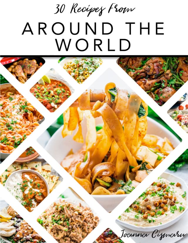 30 Recipes From Around The World e-Cookbook