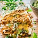 Chicken Enchilada Quesadillas