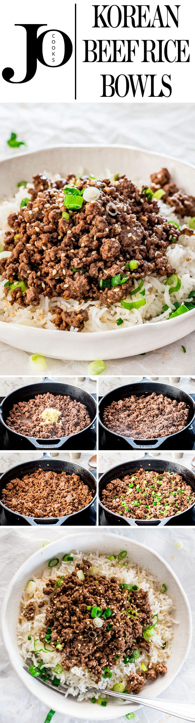 These Korean Beef Rice Bowls can be on your dinner table in only 20 minutes! We're talking delicious, quick, easy, and budget-friendly dinner! #koreanbeef