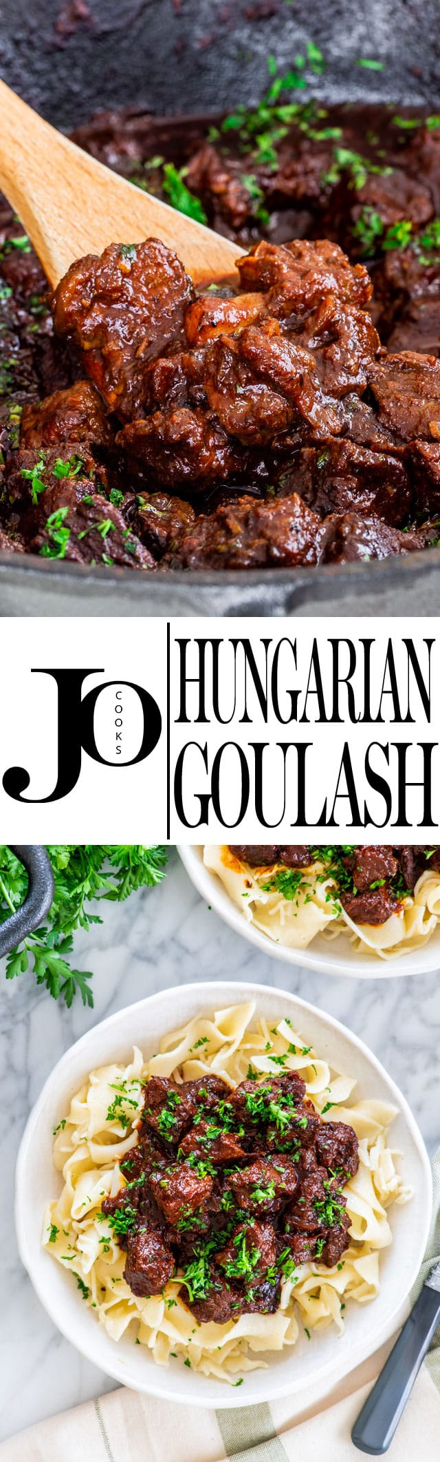 A classic Hungarian Goulash with melt-in-your mouth, tender beef, slowly cooked in an incredibly rich broth. Tasty, comforting and perfect for the whole family! #goulash