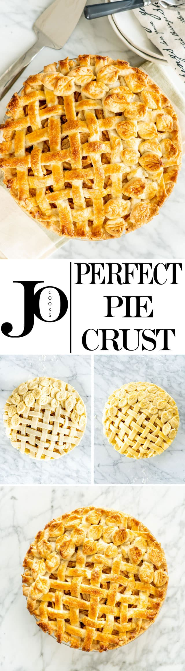 The Perfect Pie Crust Recipe requires only 5 ingredients and yields enough for both bottom and top crust.  This Pie Crust is buttery, flaky and is perfect for sweet or savory pies. #piecrust #pie