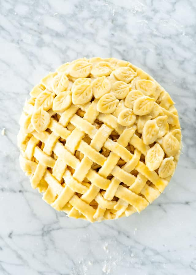 pie ready for baking with easy pie crust recipe
