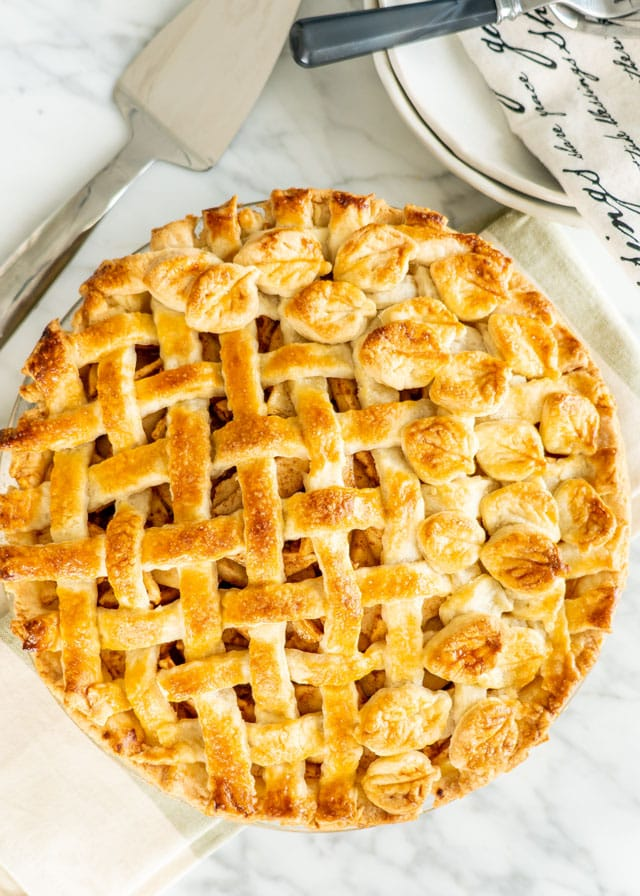 apple pie made with the perfect pie crust
