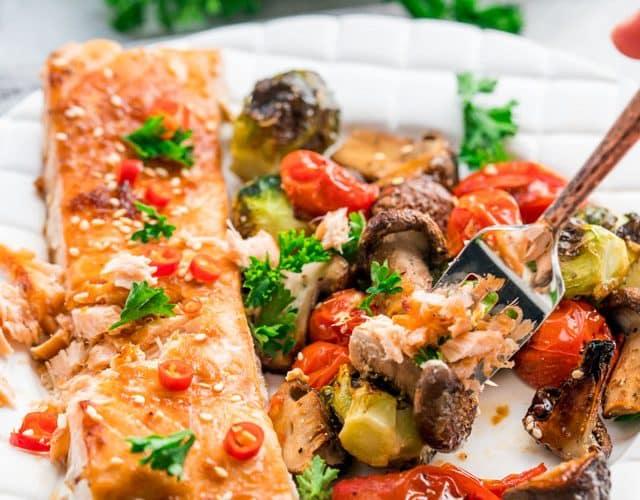 Teriyaki Salmon Sheet Pan Dinner