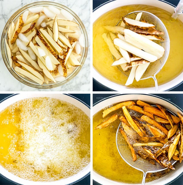 process shots for making poutine