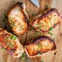 Pan Seared Pork Chops with Gravy