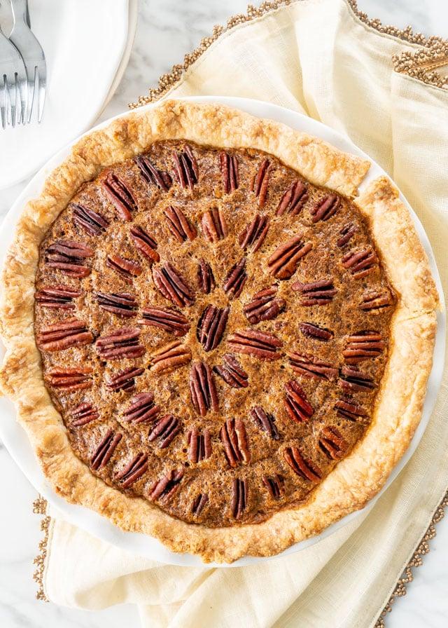 Pecan Pie overhead shot