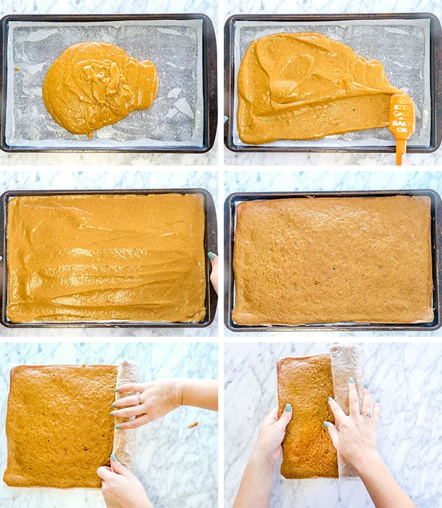 Pumpkin Roll process shots
