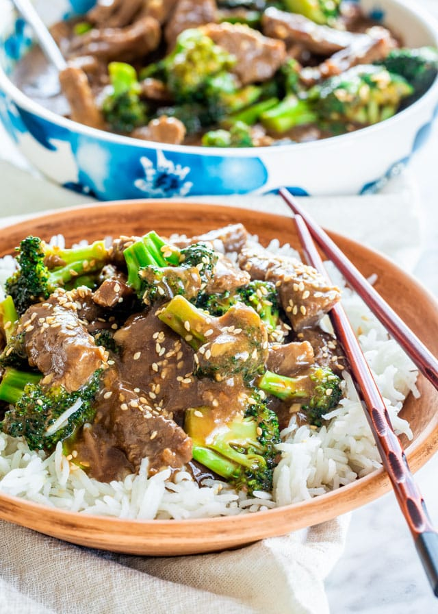 Instant Pot Beef and Broccoli over rice