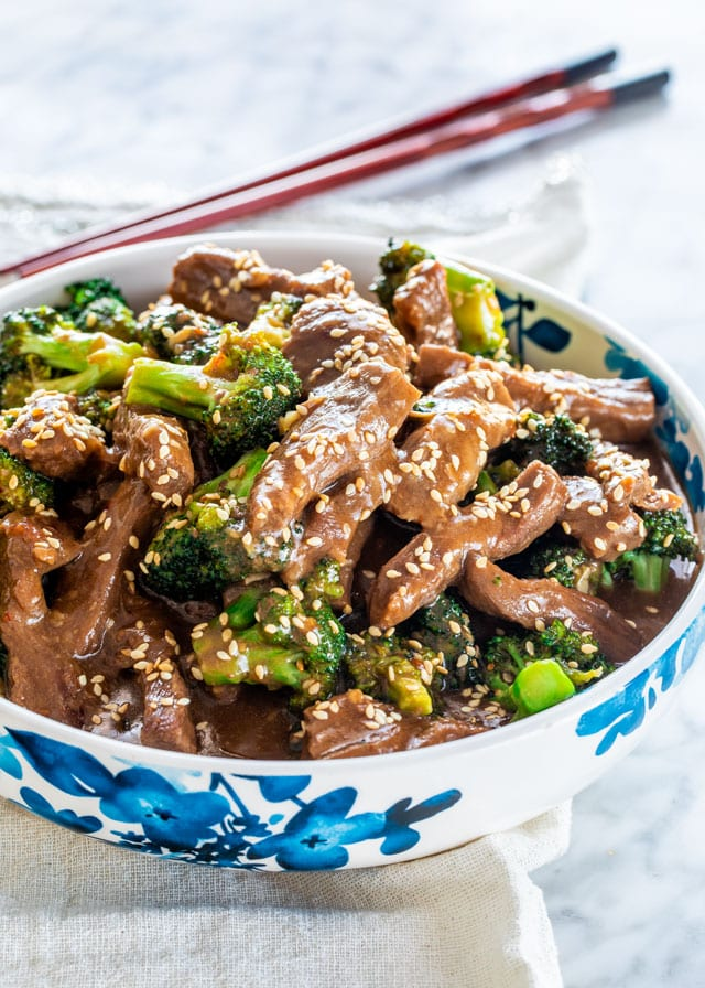 Instant Pot Beef and Broccoli in a bowl
